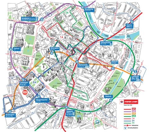 mapa+metro viena